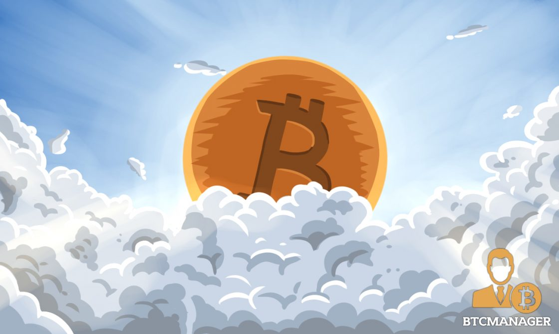 BTC Emerging from the Clouds in Heaven