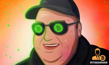 kim with bitcoin cash on his goggles