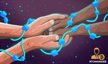 people joining hands in blockchain to fight poverty
