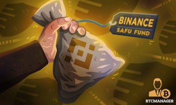 a man holding a bag of binance safu funds