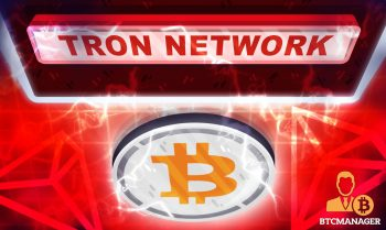 bitcoin in front of the tron network