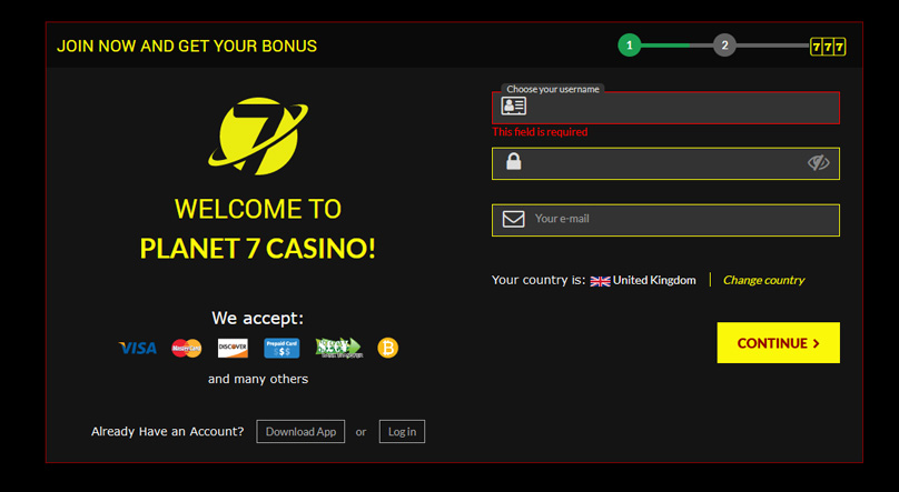 Signup for your welcome bonus